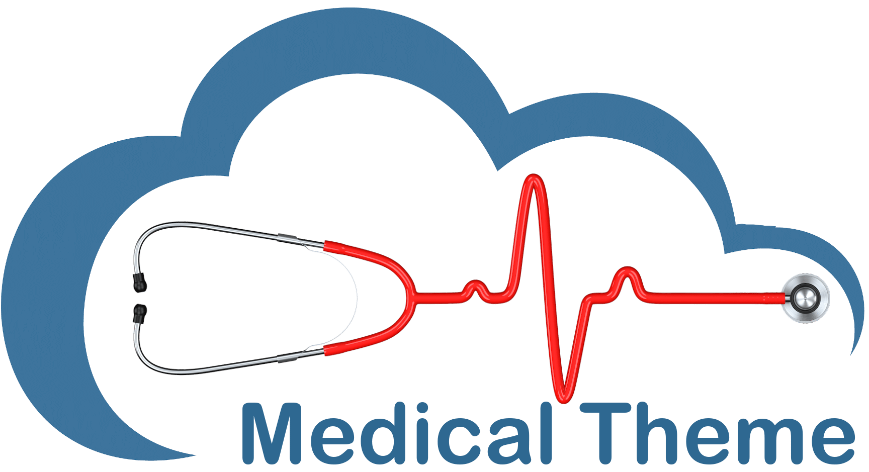 Medical Theme Blue Cloud Red Image